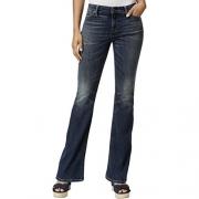 Tommy Hilfiger Womens Flare-Leg Vintage Wash Flare Jeans Blue 8
