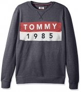 Tommy Jeans by Tommy Hilfiger Men's Sweatshirt Crewneck Pullover, Navy, Large