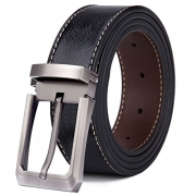Beltox Fine Men's Dress Belt Leather Reversible 1.25″ Wide Rotated Buckle Gift Box (Black/Brown,34-36) … – Men's Wallet Best Price