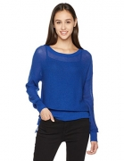 True Angel Women's Round Neck Long-Sleeve Pullover XS Performance Blue – Womens Sweatshirts Best Price