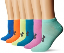 Under Armour Women's Essential No Show Socks (6 Pack), Multicolor, Medium