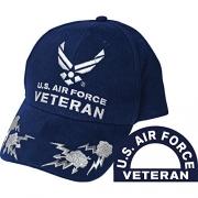 United States Air Force Veteran II Blue Hat Cap USAF – Men's Hat Best Price