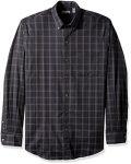 Van Heusen Men's Flex Long Sleeve Stretch Shirt, Black, X-Large