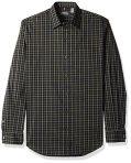 Van Heusen Men's Traveler Stretch Non Iron Long Sleeve Shirt, Black, Large