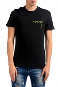 Versace Jeans Men's Tiger Sleeve Polo, Nero, 48.