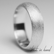 White Gold Wedding Band, 10k Solid White Gold 4mm Wide, Matte Wedding Band, Brushed Wedding Band, Men's Band