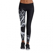 Women Leggings, Gillberry Women Sports Trousers Athletic Gym Workout Fitness Yoga Leggings Pants (L, Black) – Women's Capris Best Price