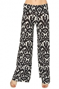 Women's New Black & White Aztec Tribal Palazzo Pants – Women's Capris Best Price