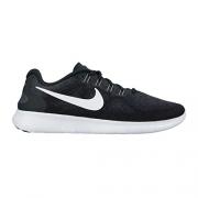 Women's Nike Free RN 2017 Running Shoe Black/White/Dark Grey/Anthracite Size 7 M US