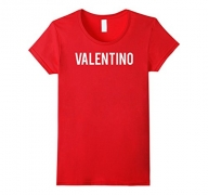 Womens Valentino T Shirt – Cool new funny name fan cheap gift tee Medium Red.