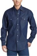 Wrangler Men's Authentic Cowboy Cut Work Western Long-Sleeve Firm Finish Shirt, Rigid...