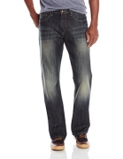 NITAGUT Men's Ripped Slim Straight fit Biker Jeans Dark Blue-US 38