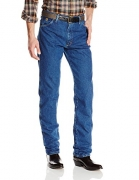 Wrangler Men's George Strait Cowboy Cut Original Fit Jean , Heavyweight Stone Denim, 35W x 32L
