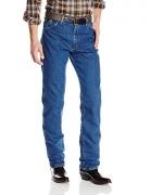 Wrangler Men's George Strait Cowboy Cut Original Fit Jean , Heavyweight Stone Denim, 35W x 32L